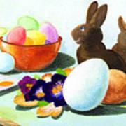 Easter Morning Still Life Poster