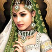 Eastern Beauty In Green Poster