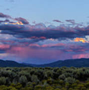 Eastern Sky At Sunset - Taos New Mexico Poster