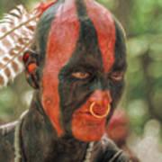 Eastern Woodland Indian Portrait Poster