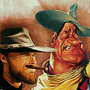 Eastwood And Wayne Poster