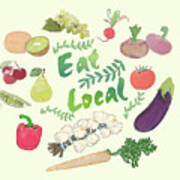 Eat Local  Poster