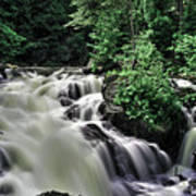 Eau Claire Gorge Water Fall Poster