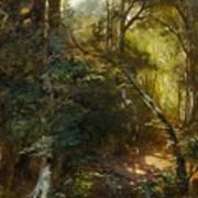 Ebert, Carl 1821 Stuttgart - 1885   Inside A Forest. Poster
