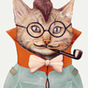 Eclectic Cat Poster