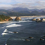 Ecola Vista Poster by Winston Rockwell