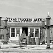 Edcouch Texas Gas Station 1939 Poster