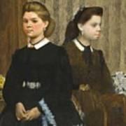 Edgar Degas - The Bellelli Sisters Giovanna And Giuliana Bellelli Poster