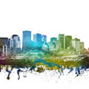 Edmonton Cityscape 01 Poster