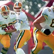 Edmonton Eskimos Football - Blake Marshall - 1988 Poster