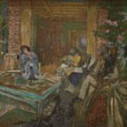 Edouard Vuillard  Sewing Party At Loctudy Poster