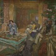 Edouard Vuillard  Sewing Party At Loctudy Poster