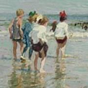 Edward Henry Potthast 1857 - 1927 Summer Day, Brighton Beach Poster
