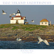 Egg Rock Island Lighthouse Poster