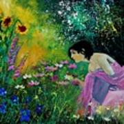 Eglantine With Flowers Poster
