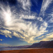 Egypt Sahara Desert Red Sea Night Sky Image Poster