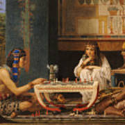 Egyptian Chess Players Poster