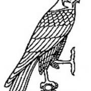 Egyptian Symbol: Falcon Poster