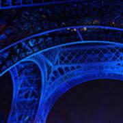 Eiffel Blue Poster