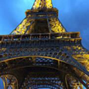 Eiffel Tower At Night. Paris Poster