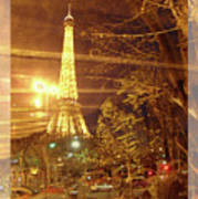 Eiffel Tower By Bus Tour Greeting Card Poster Poster