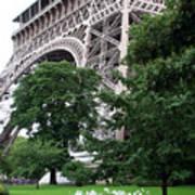 Eiffel Tower Garden Poster