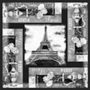 Eiffel Tower In Black And White Design I Poster