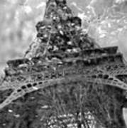 Eiffel Tower In Reflecting Pool Paris Poster