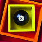Eight Ball In Box Poster