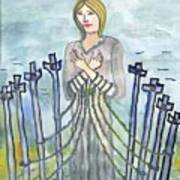Eight Of Swords Illustrated Poster