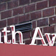 Eighth Avenue Sign New York Poster