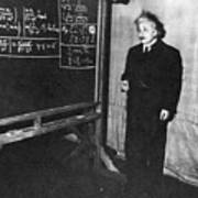 Einstein At Princeton University Poster