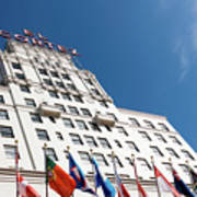 El Cortez With Flags Poster