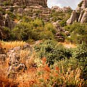 El Torcal Rock Formations Poster