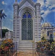Elaborate Mausoleum  Colon Cemetery Havana Cuba Espada Cemetery Poster
