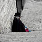 Elderly Beggar In Chordeleg Poster