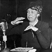 Eleanor Roosevelt At Hearing Poster
