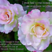 Eleanor Roosevelt Roses Poster