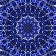 Electric Blue Mandala Poster