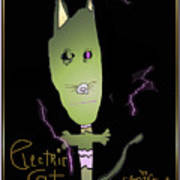 Electric Cat Poster