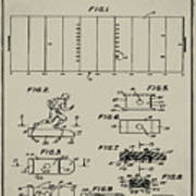Electric Football Patent 1955 Aged Gray Poster