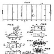 Electric Football Patent 1955 Poster