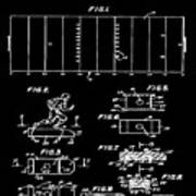 Electric Football Patent 1955 Black Poster
