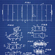 Electric Football Patent 1955 Blueprint Poster
