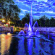 Electric Fountain  Poster