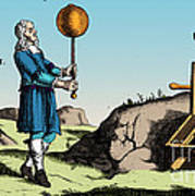 Electric Generator, Otto Von Guericke Poster