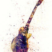 Electric Guitar Abstract Watercolor Poster