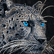 Electric Leopard Poster