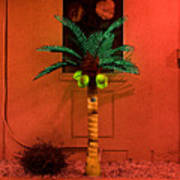 Electric Palm Tree Poster