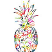 Electric Pineapple - Art By Linda Woods Poster